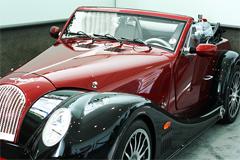 Classic red Morgan car