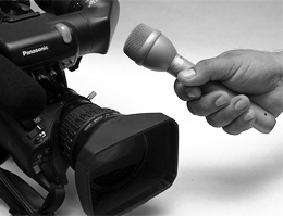 Video camera and microphone