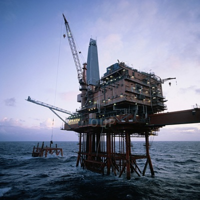 Oil rig on the ocean