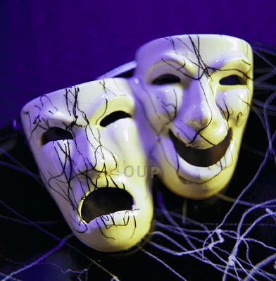 Tragedy and comedy drama masks