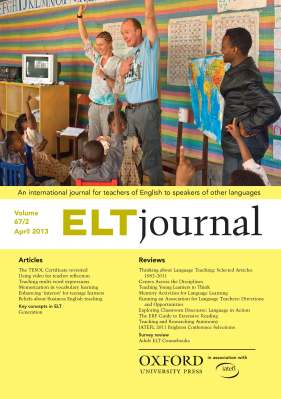 ELT Journal April 2013 cover