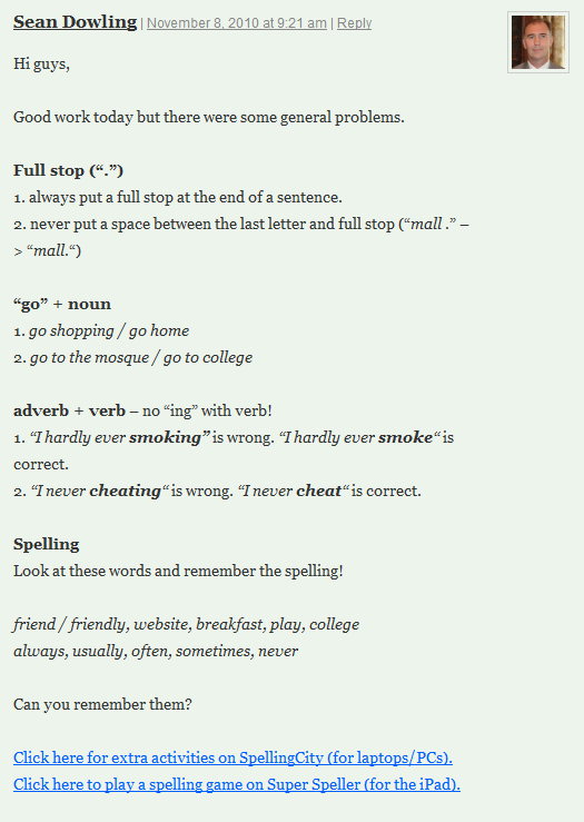 Examples of general mistakes