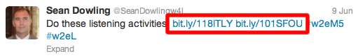 A post with two shortened bitly links