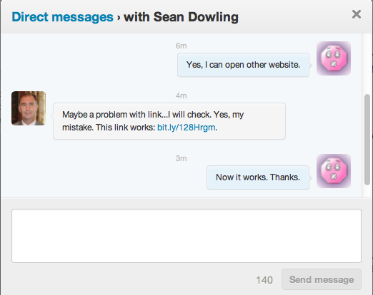 Direct message tool