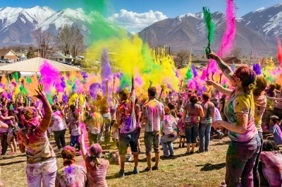 A celebration of Holi Festival of Colors