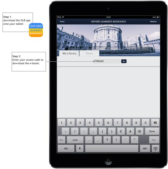 Oxford Learner's Bookshelf app