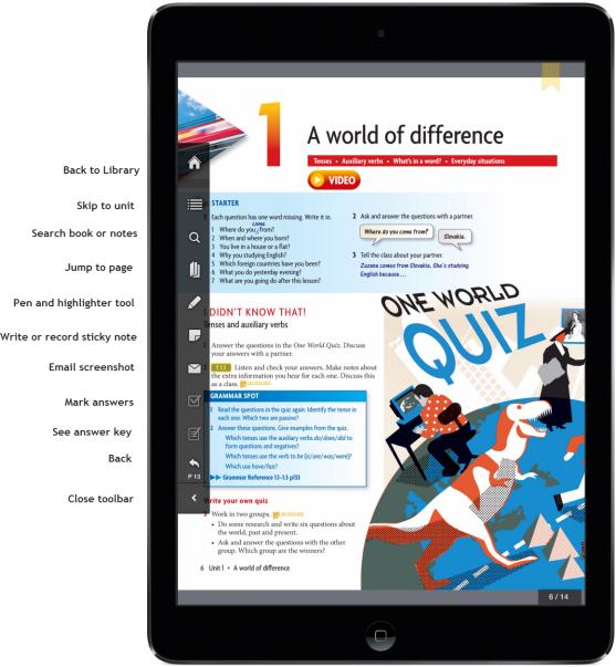 OLB interactive tool bar